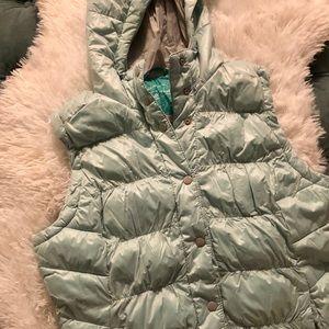 Winter Puff Vest, Mint Green